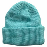 Teal Blue Toddler Boys Girls Cuffed Winter Beanie Hat