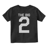 The Big 2 2nd Birthday Party Baby Toddler Short Sleeve T-Shirt Black
