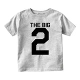 The Big 2 2nd Birthday Party Baby Toddler Short Sleeve T-Shirt Grey