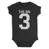 The Big 3 3rd Birthday Party Baby Bodysuit One Piece Black