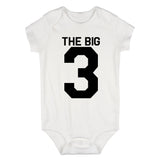 The Big 3 3rd Birthday Party Baby Bodysuit One Piece White