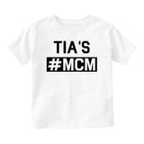 Tias MCM Baby Infant Short Sleeve T-Shirt White