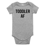 Toddler AF Funny Baby Bodysuit One Piece Grey