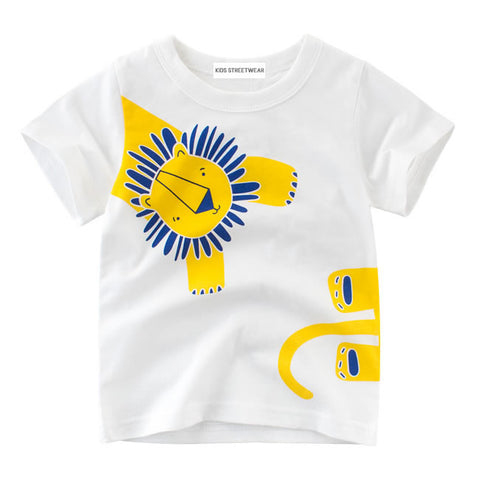White Lion Graphic RM Toddler Boys Short Sleeve T-Shirt