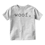 Woof Dog Sound Baby Infant Short Sleeve T-Shirt Grey
