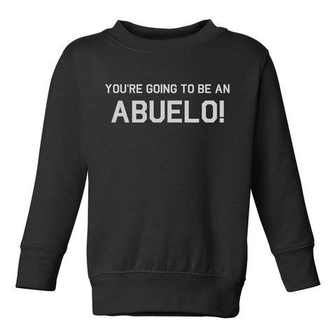 Youre Going To Be An Abuelo Toddler Boys Crewneck Sweatshirt Black
