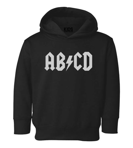 ABCD ACDC Toddler Kids Pullover Hoodie Hoody in Black