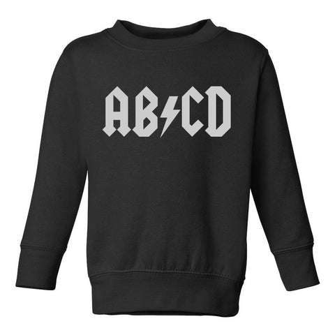 ABCD ACDC Toddler Kids Sweatshirt in Black