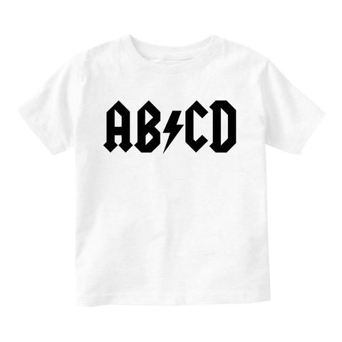 ABCD ACDC Infant Toddler Kids T-Shirt in White