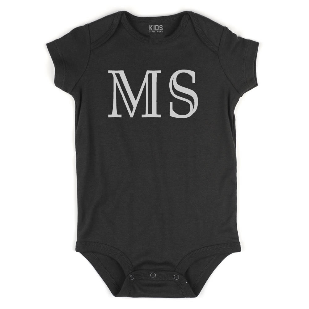 MS Mississippi State Fashion Infant Onesie Bodysuit By Kids Streetwear