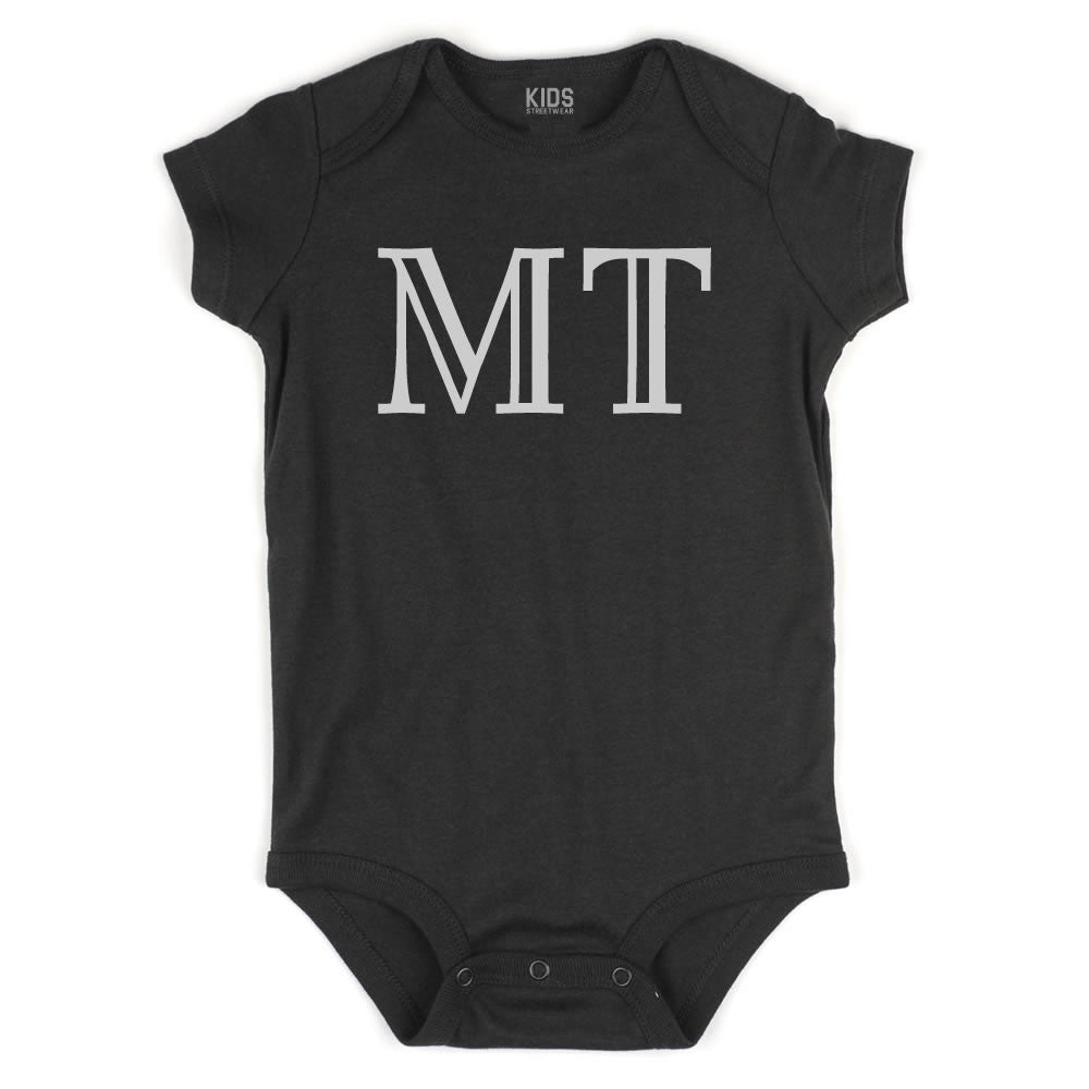 MT Montana State Fashion Infant Onesie Bodysuit By Kids Streetwear