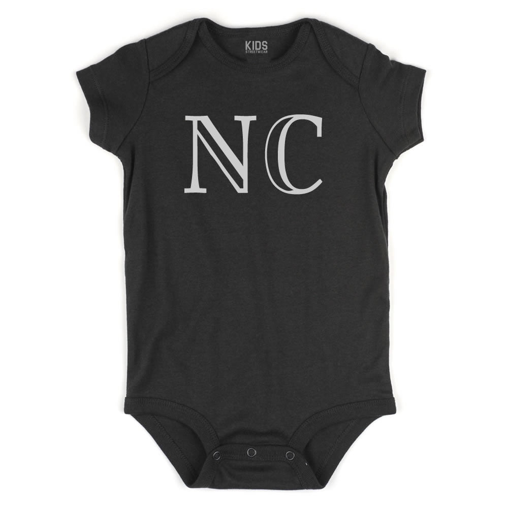 NC North Carolina State Fashion Infant Onesie Bodysuit By Kids Streetwear