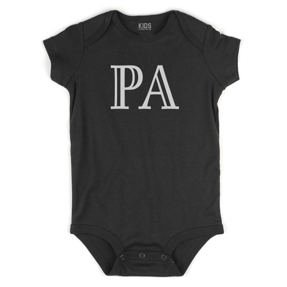 PA Pennsylvania State Fashion Infant Onesie Bodysuit By Kids Streetwear