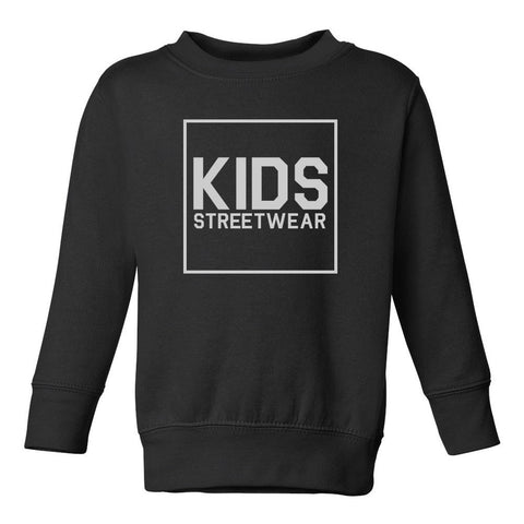 Big Kids Streetwear Logo Toddler Kids Sweatshirt in Black