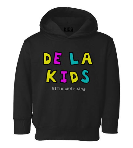 De La Kids Little and Rising Toddler Kids Pullover Hoodie Hoody in Black