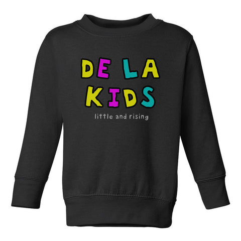 De La Kids Little and Rising Toddler Kids Sweatshirt in Black