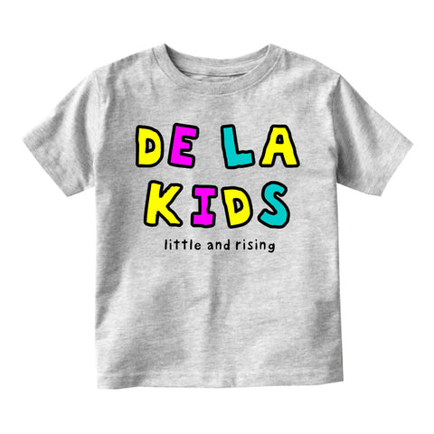 De La Kids Little and Rising Infant Toddler Kids T-Shirt in Grey