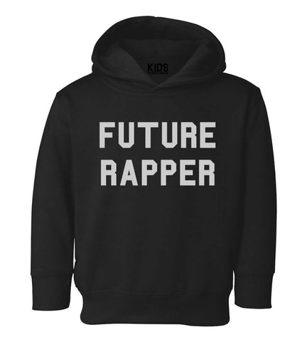 Future Rapper Toddler Kids Pullover Hoodie Hoody in Black