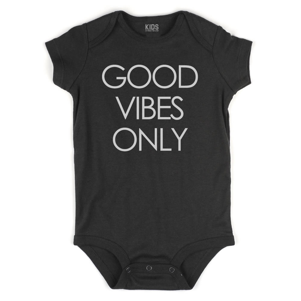 Good Vibes Only Infant Onesie Bodysuit in Black