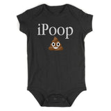 iPoop Poop Emoji Baby Bodysuit One Piece Black