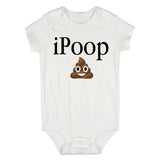 iPoop Poop Emoji Baby Bodysuit One Piece White