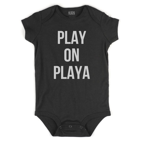 Play On Playa Infant Onesie Bodysuit in Black