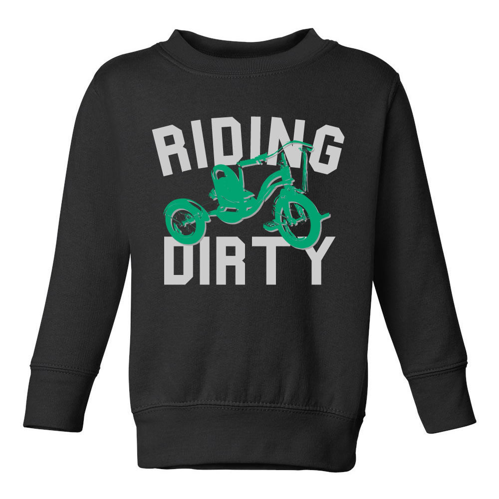 Riding Dirty Tricycle Toddler Kids Sweatshirt in Black