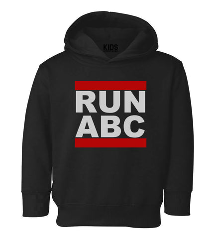 RUN ABC DMC Toddler Kids Pullover Hoodie Hoody in Black