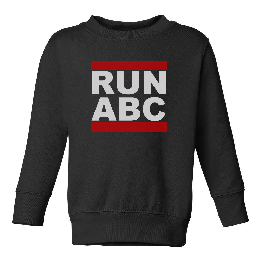 RUN ABC DMC Toddler Kids Sweatshirt in Black