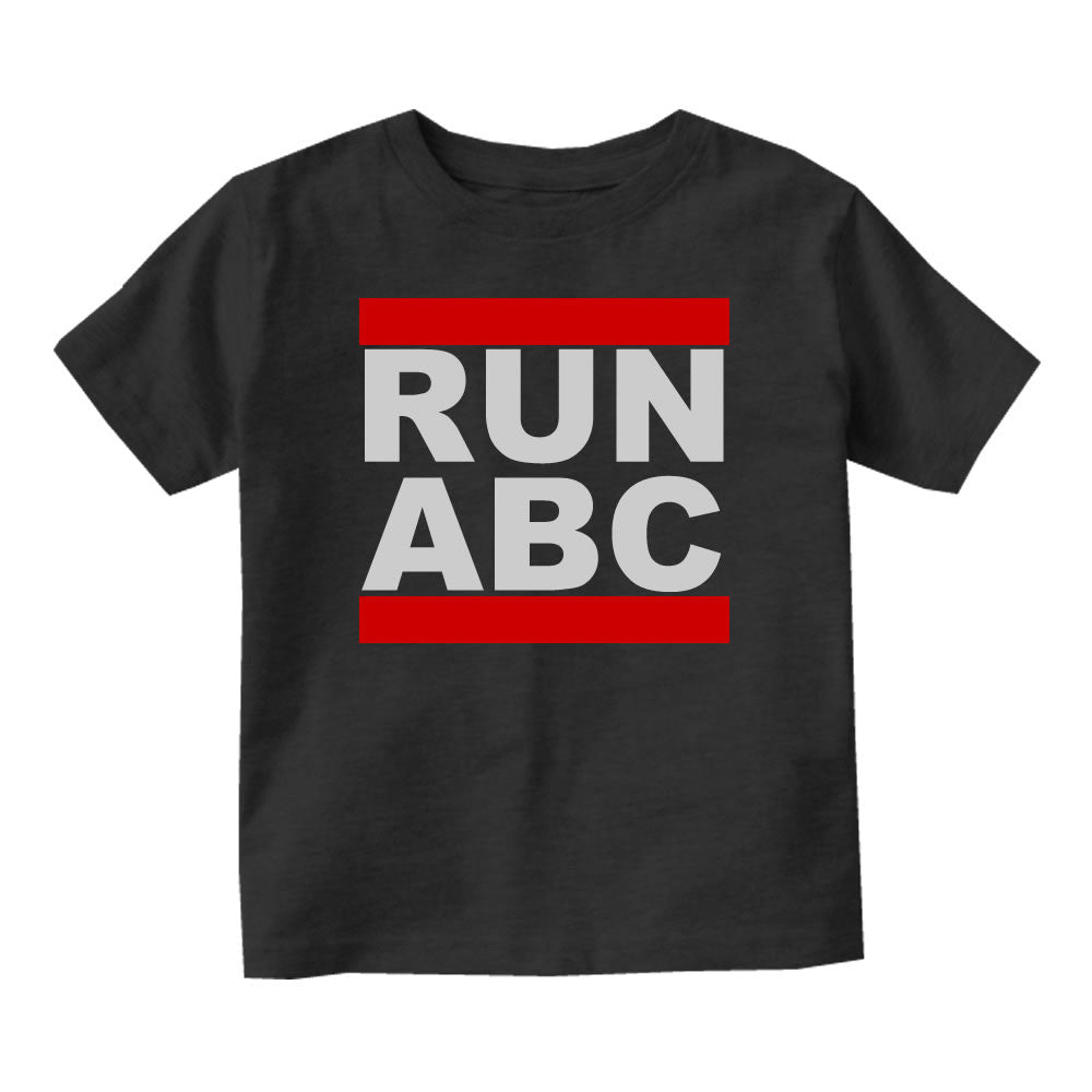 RUN ABC DMC Infant Toddler Kids T-Shirt in Black