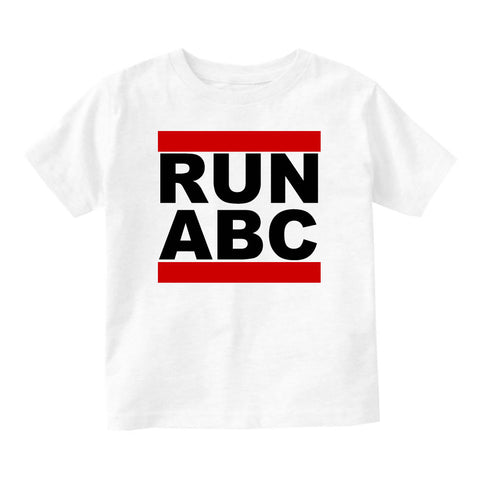 RUN ABC DMC Infant Toddler Kids T-Shirt in White