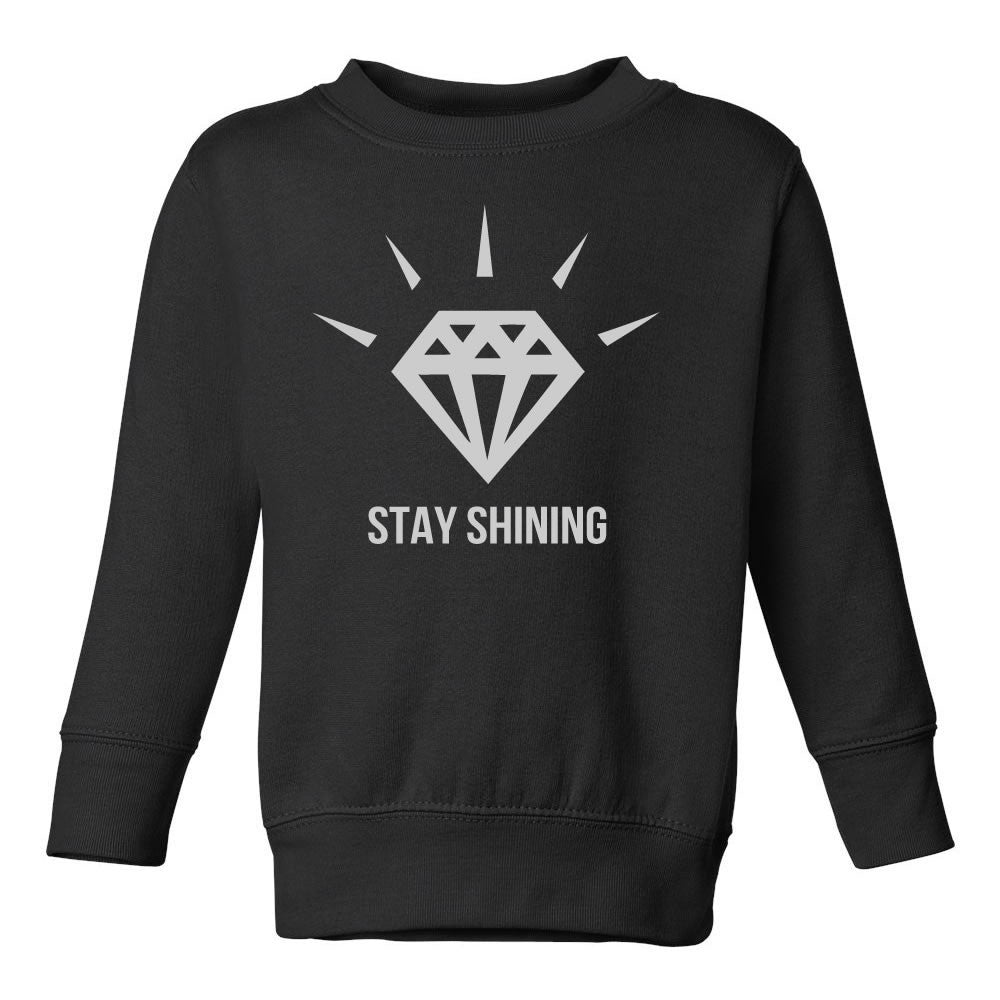 Stay Shining Diamond Toddler Kids Sweatshirt in Black