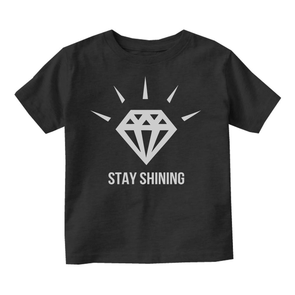 Stay Shining Diamond Infant Toddler Kids T-Shirt in Black