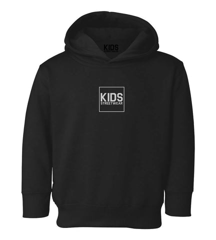 Small Kids Streetwear Logo Toddler Kids Pullover Hoodie Hoody in Black