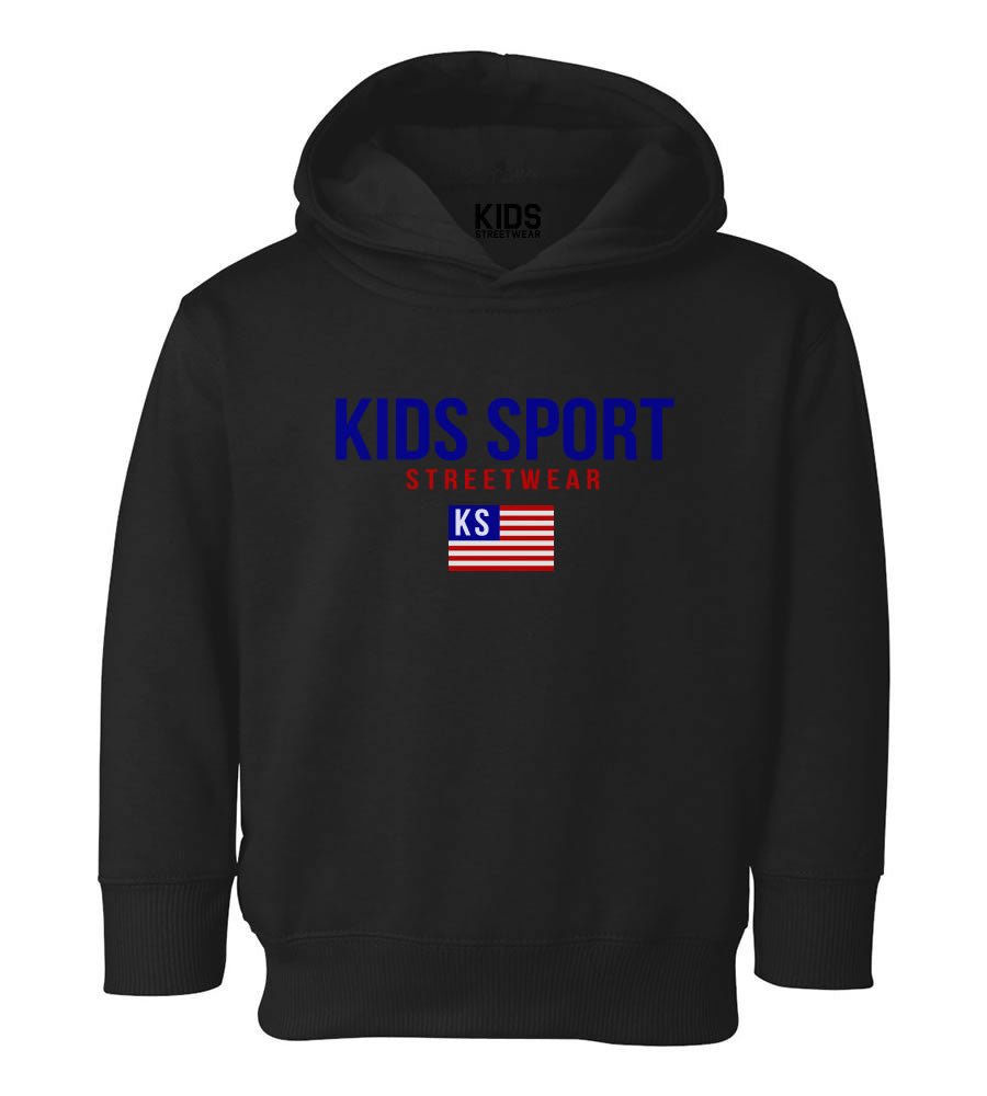 Kids Sport Streetwear Toddler Kids Pullover Hoodie Hoody in Black