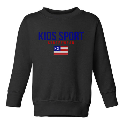 Kids Sport Streetwear Toddler Kids Sweatshirt in Black