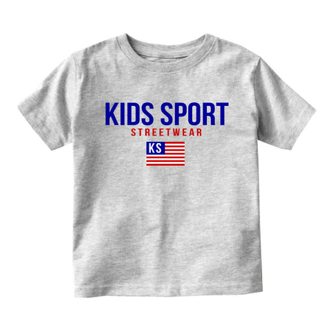Kids Sport Streetwear Infant Toddler Kids T-Shirt in Grey