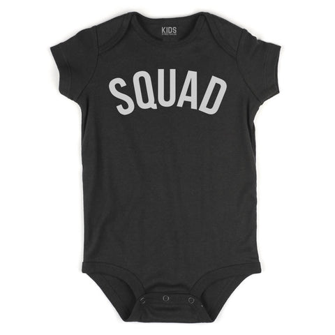 Squad Infant Onesie Bodysuit in Black