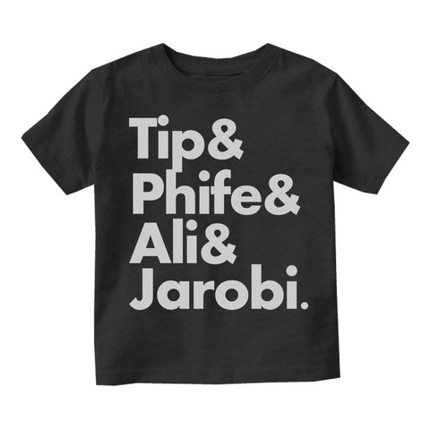 Tip Phife Ali And Jarobi Tribe Infant Toddler Kids T-Shirt in Black