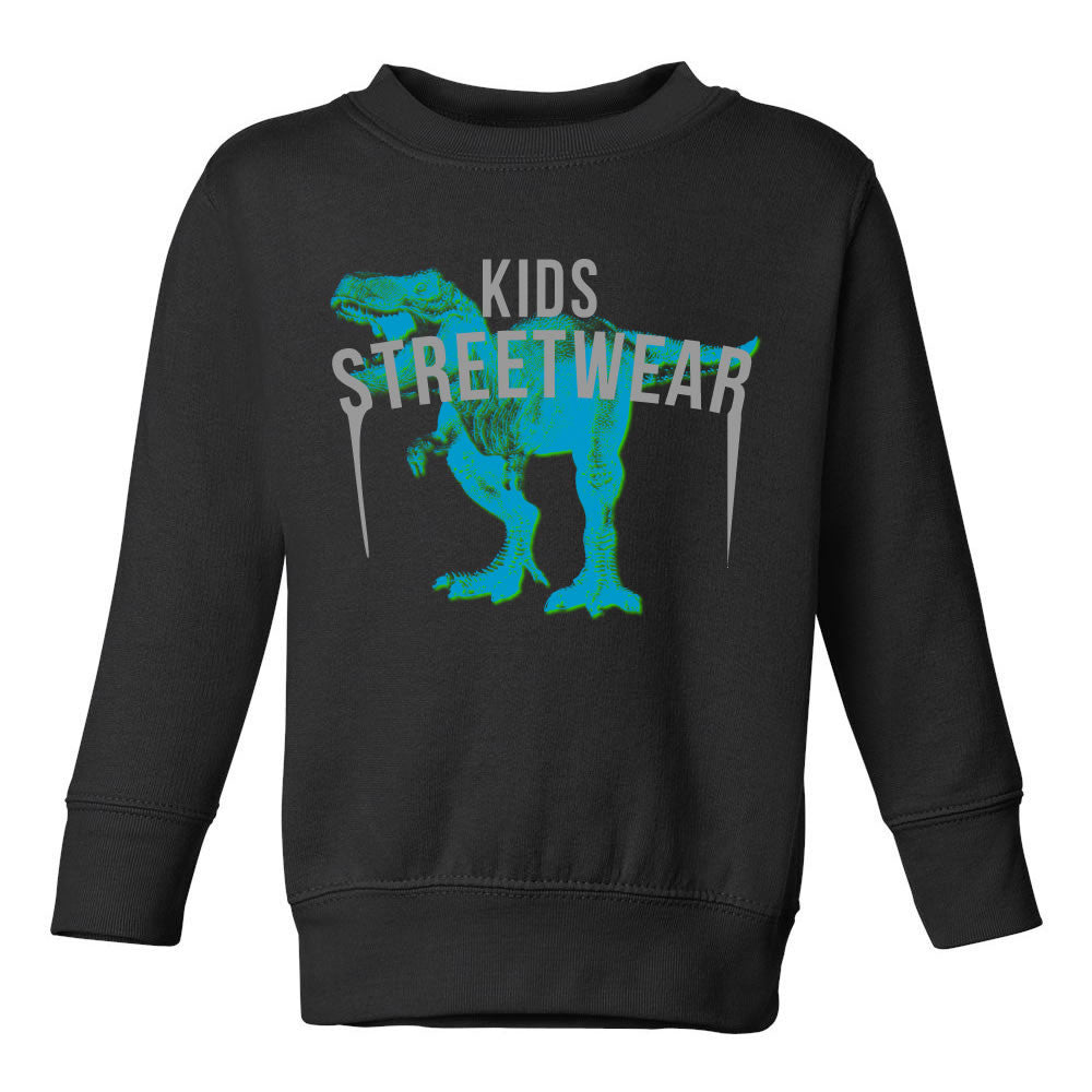 T-Rex Dinosaur Streetwear Toddler Kids Sweatshirt in Black