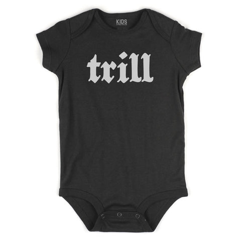 Trill Infant Onesie Bodysuit in Black