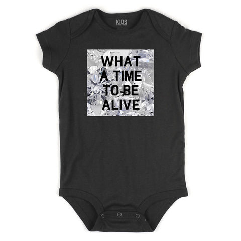 What A Time To Be Alive Infant Onesie Bodysuit in Black
