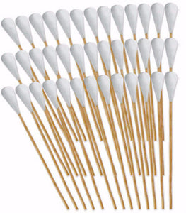 "3"" Bamboo Gun Cleaning Swabs - Pack of 50"