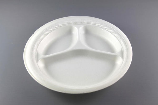 "10"" 3 COMPARTMENT FOAM PLATE"