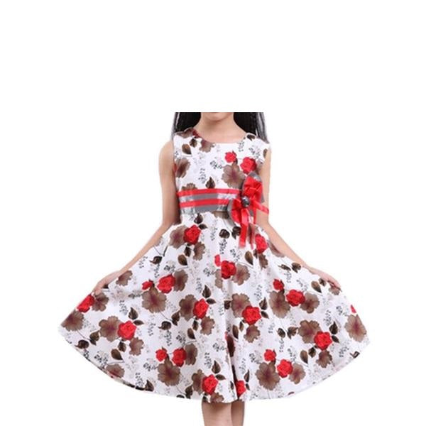 4e15f9191d99 Baby Girls Floral Dress Girl Summer Princess Birthday Party Dresses ...