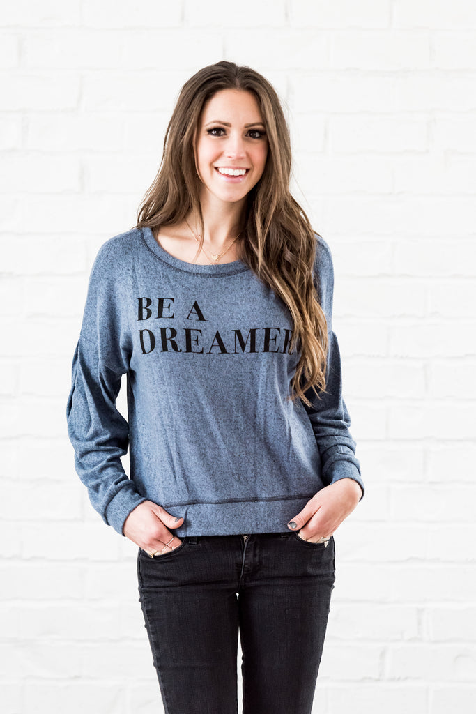 be a dreamer top - blue