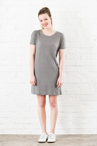 essential tshirt dress - nickel