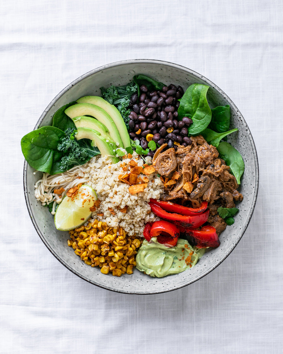 adobo burrito bowl vegan recipe