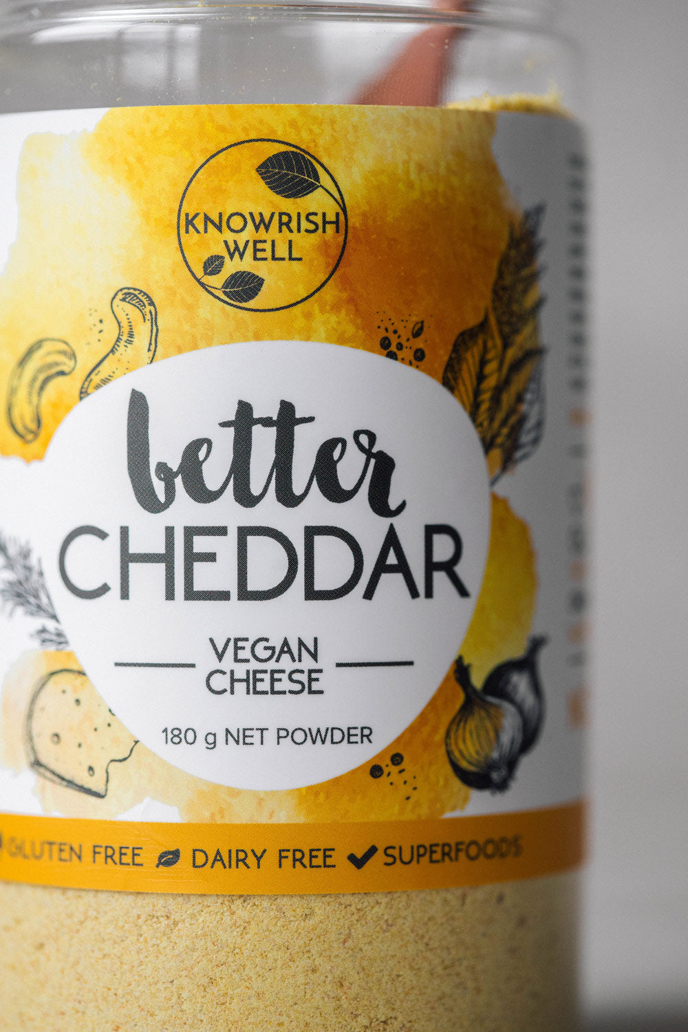 Knowrish Well Better Cheddar vegan cheese powder