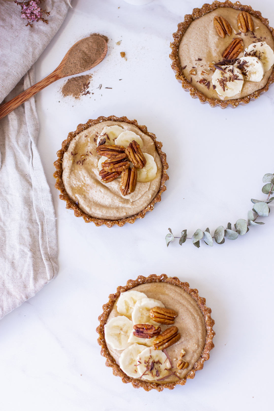 Banoffee Brew Tarts vegan recipe